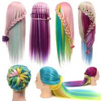 Multicolor Hairdressing Training Head Mannequin Model Braiding Practice Salon Clamp Holder