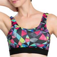 Women Cozy Show-Off Printing Quick Dry Sports Bra Wireless Yoga Vest Underwear
