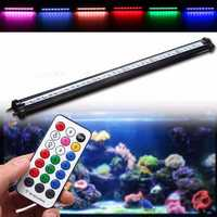 45CM RGB SMD5050 Rigid LED Strip Light Air Bubble Aquarium Fish Tank Lamp + Remote Control AC220V