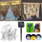 Les plus populaires Solar Powered Waterproof Two Installations 300 LEDs Fairy Curtain String Light For Christmas
