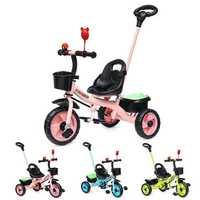 BIKIGHT Kids 3 Wheels Tricycle Bike Children Ride Toddler Balance Protection Baby Mini Bike Safety Handle Push