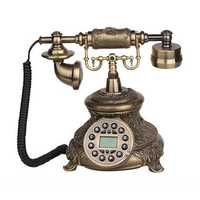 Telephone Landline Corded Phone Vintage Antique Style Old Fashioned Retro Home Office Decoration