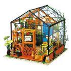 Recommandé Greenhouse DIY House Model Kit Miniature LED Light Doll House Build Toy