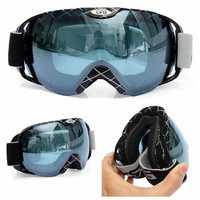 Motorcycle Racing Anti Fog Goggles UV Dual Lens Snowboard Ski Goggles