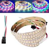 1M WS2812B RGBW 4 IN 1 Non-Waterproof 5 Pins 144LEDs Strip Light for Decoration DC5V