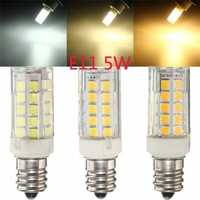 Ceramic Lamp E11 5W 44 SMD 2835 450LM Non-Dimmable LED Corn Light Bulb 110V