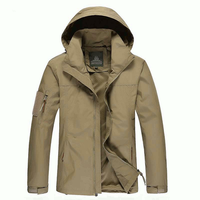 Size M-3XL Men Outdoor Casual Autumn Polyester Zipper Warm Coat Jacket Outwear