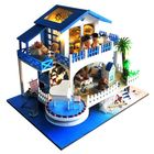 Acheter T-Yu TB6-Z Blue Melody DIY Doll House With Cover Music Light Gift Collection Decor Toy