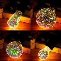 E27 6W Colorful 3D Christmas Holiday LED Firework Light Home Decorative Lamp LED Bulb