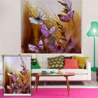 Meilleurs prix Butterfly Roller Shutters Painting PAG Roller Blind Background Wall Decor Window Drawing Curtain