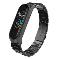 Bakeey Three Beads Solid Stainless Steel Watch Band Watch Strap Replacement for Xiaomi Miband 4