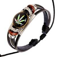 Punk Multilayer Unisex Bracelets Wooden Beads Maple Leaf