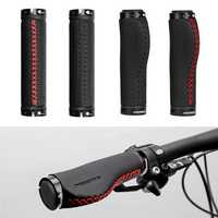 PROMEND Bike Bicycle Leather Handle Handlebar Grips Ergonomic Hand Sewing Cycling MTB Road Bike Handle