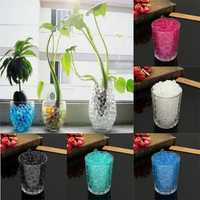 Water Plant Flower Crystal Soil Mud Pearls Gel Beads Jelly Ball Wedding Decor