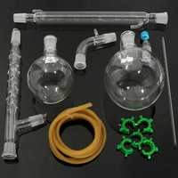 1000mL 24/29 Glass Vacuum Distillation Extraction Distilling Apparatus Kit Lab Glassware Set