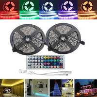 10M SMD5050 Waterproof RGB 600 LED Strip Flexible Rope Tape Light Kit + 44 Keys IR Controller DC12V