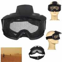 FJ-G007 CS Airsoft Explosion Proof Goggles Glasses Eyewear Eye Protection Mask Steel Mesh