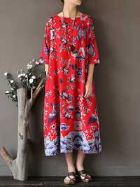 Random Printed Midi Dress