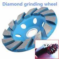 4 Inch 6 Hole Diamond Segment Grinding Cup Wheel Disc Grinder Granite Stone