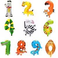 Cute Animal Cartoon Arabic Numeral Foil Balloons Number Inflatable Kids Toy Party Wedding Decor