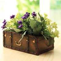 Garden Resin Suitcase Flower Pot Mini Succulents Planter DIY Flowers Green Plants Decorations