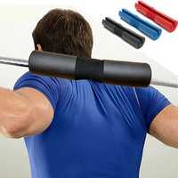 Foam Padded Barbell Bar Cover Pad Gym Back Support Cushion