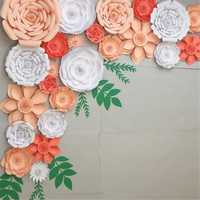 30cm DIY Paper Flowers Leaves Backdrop Decorations Kid Birthday Party Wedding Favor