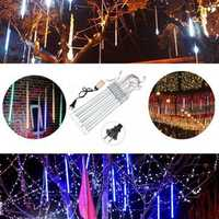 10Tubes 30cm 300LED Meteor Shower Rain Light Christmas Xmas Tree Decor with Driver US Plug