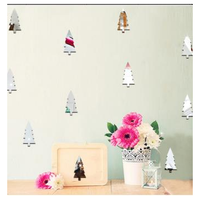 Christmas 2017 Funlife Children Room Decoration Wall Stickers Christmas Tree Forest Decoration