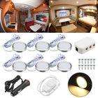Meilleurs prix 6pcs 12V Spot Ceiling Light Lamp Dimmer Cabinet Lamp For Caravan Camper Trailer
