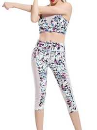 Colorful Printing Yoga Tracksuit Fitness Leggings Sport Suit