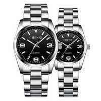 CHENXI CX-003A Full Steel Waterproof Couple Wrist Watch