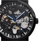 Meilleur prix WINNER Fashion Sculpture Mechanical Watch Retro Stainless Steel Strap Men Automatic Watch