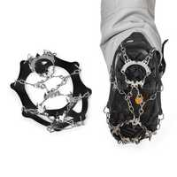 AOTU AT8608 Snow Grip Spike Ice Shoes Boots Anti-slip 18-teeth Climbing Crampons Grippers for Ski