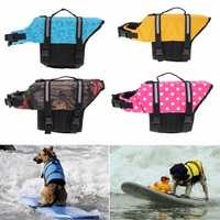 XS Pet Aquatic Reflective Preserver Float Vest Dog Cat Saver Life Jacket New
