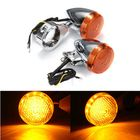 Prix de gros 2pcs Front 2pcs Rear Motorcycle LED Turn Signal Chrome 41mm Fork Clamp For Harley