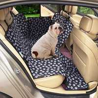 Oxford Cat Claws Pattern Car Rear Back Seat Pet Mat Dog Cat Cushion Seat Cover Waterproof