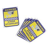 6Pcs CCTV Camera Warning Stickers Surveillance Vinyl Decal Video Security Sign