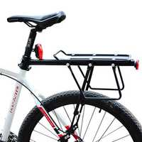 BIKIGHT Bicycle Bike Cargo Rack Rear Back Seat Carrier Shelf Quick Release Luggage Protect Pannier