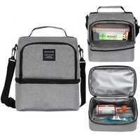 Outdoor Picnic Thermal Insulated Cooler Bag Food Container Lunch Box Tote Storage Bag Men Women