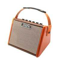 Aroma AG-15A 15W Acoustic Guitar Amplifier with Mic Interfaced Ultra-Efficient Class D Amplifier