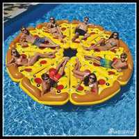 Water Fun Sports Beach Toy Inflatable Float Pizza Riding Swimming Ring Buoyancy Board PVC For Kids Adult