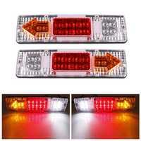 2Pcs 12V 19 LED Car Truck Trailer Tear Tail Stop Light Indicator Lamp