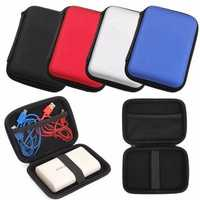 Digital Storage Bag Portable Carrying Zipper Case Pouch Protection Shell for Cable Hard Disk Drive