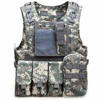 Outdoor Tactical Vest Multi Pockets Fishing Vest Oxford Sports Equipment