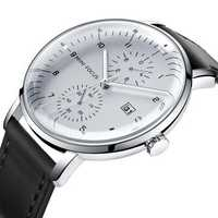 MINI FOCUS MF0052G Leather Strap Casual Style Men Watch
