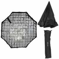80CM 31.5 inch Octagonal Flash Honeycomb Grid Umbrella Softbox Photography Studio Equipment