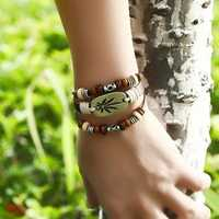 Vintage Maple Leaf Multi Layer Bracelet