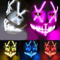 Halloween Ghost Slit Pleasure Luminous Light EL Line Mask Fashion Mask Clothing Mask Party