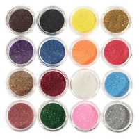 16 Colors Eye Shadow Pigment Glitter Powder Spangle Set Nail Art Decoration DIY Bling Party Shimmer Makeup
